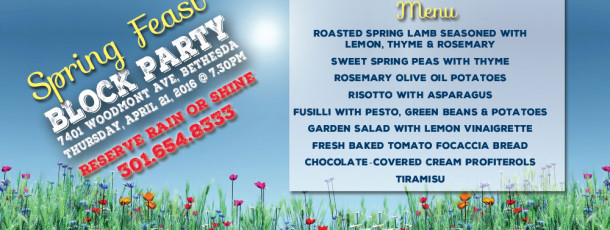 Spring Feast MENU revealed
